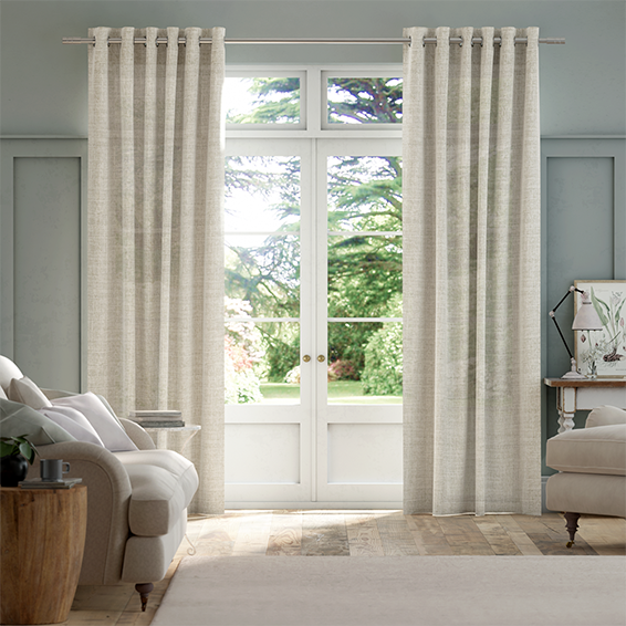 Lumiere Unlined Arlo Sand Curtains