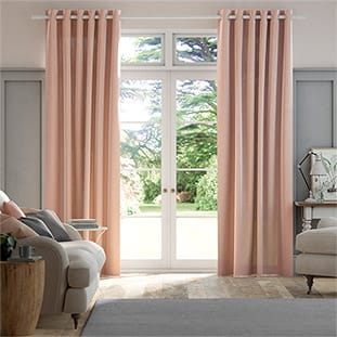 Lumiere Unlined Bijou Linen Blush Pink Curtains thumbnail image