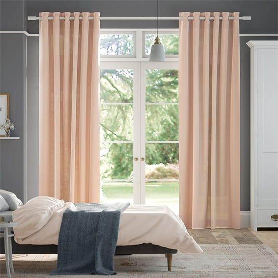 Lumiere Unlined Bijou Linen Vintage Pink Curtains