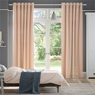 Lumiere Unlined Bijou Linen Vintage Pink Curtains thumbnail image