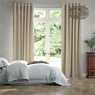 Lumiere Unlined Bijou Linen Latte Curtains thumbnail image