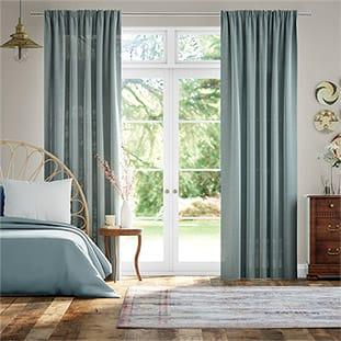 Lumiere Unlined Bijou Linen Sky Curtains thumbnail image