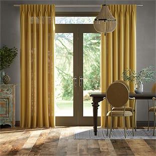 Lumiere Unlined Bijou Linen Sunflower Curtains thumbnail image