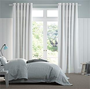 Lumiere Unlined Bijou Linen White Curtains thumbnail image