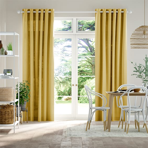 Lumiere Unlined Chalfont Mustard Curtains