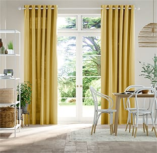 Lumiere Unlined Chalfont Mustard Curtains thumbnail image