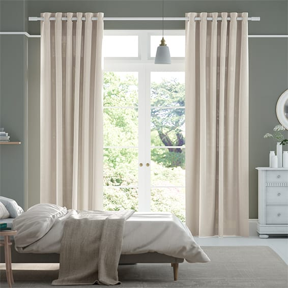 Lumiere Unlined Chalfont Natural Grey Curtains