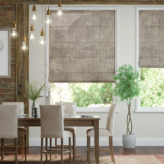 Lumiere Unlined Diomedes Mineral Roman Blind