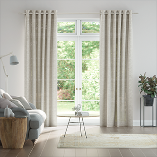 Lumiere Unlined Emin Country Grey Curtains thumbnail image
