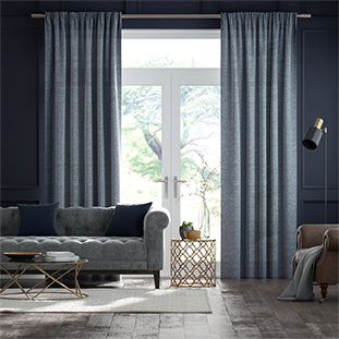 Lumiere Unlined Encanto Shimmering Blue Curtains thumbnail image