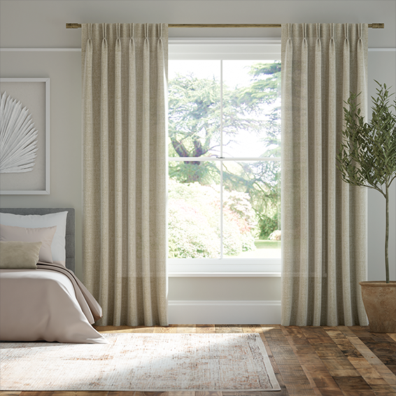 Lumiere Unlined Encanto Shimmering Gold Curtains