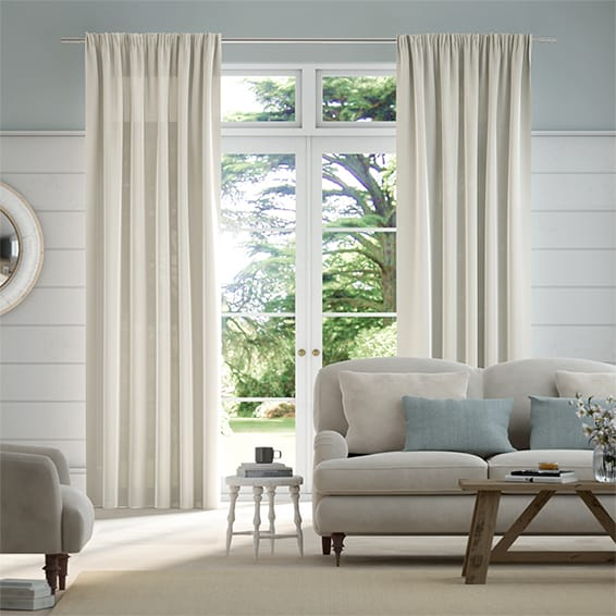 Lumiere Unlined Harlow Stone Curtains