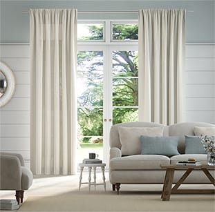 Lumiere Unlined Harlow Stone Curtains thumbnail image