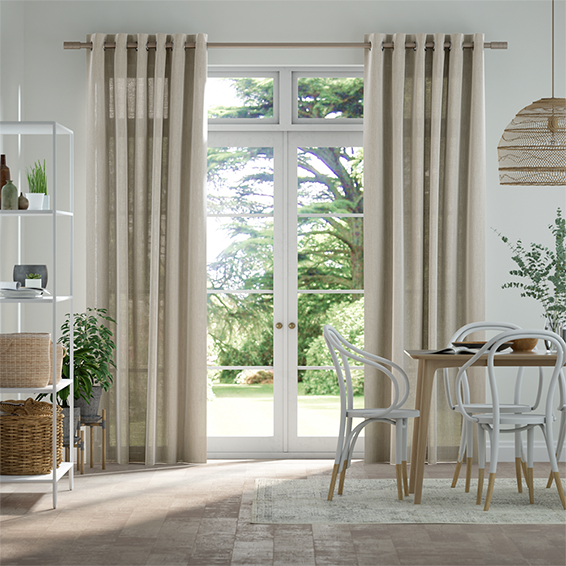 Lumiere Unlined Haverford Oatmeal Curtains