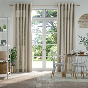 Lumiere Unlined Haverford Oatmeal Curtains thumbnail image
