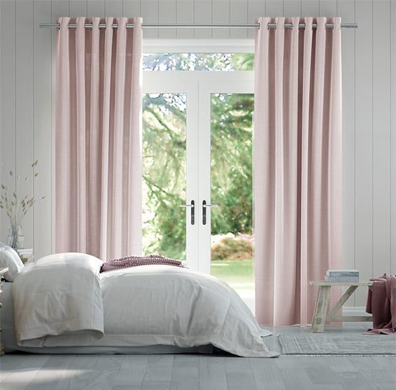 Lumiere Unlined Kirkland Soft Pink Curtains