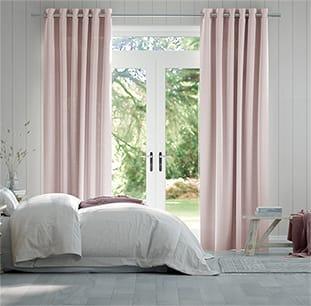 Lumiere Unlined Kirkland Soft Pink Curtains thumbnail image