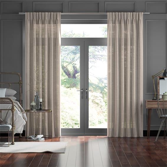 Lumiere Unlined Kosa Gilt Curtains