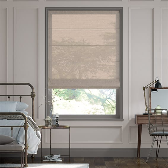Lumiere Unlined Kosa Gilt Roman Blind