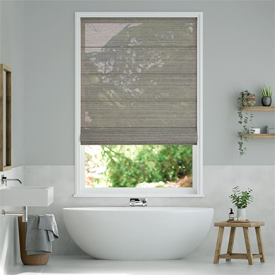 Lumiere Unlined Lanura Stone Roman Blind