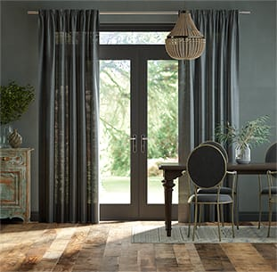 Lumiere Unlined Luster Twilight Blue Curtains thumbnail image
