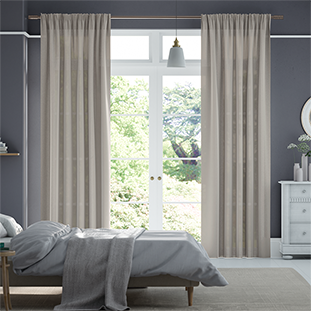 Lumiere Unlined Malvern Woven Grey Curtains thumbnail image