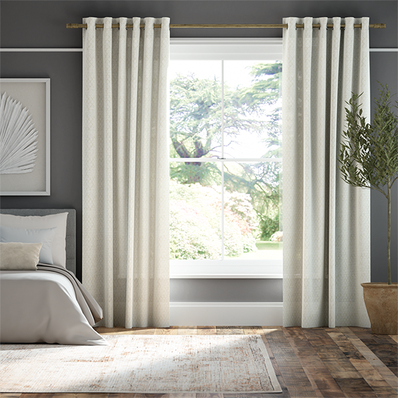 Lumiere Unlined Niko Antique Pearl Curtains
