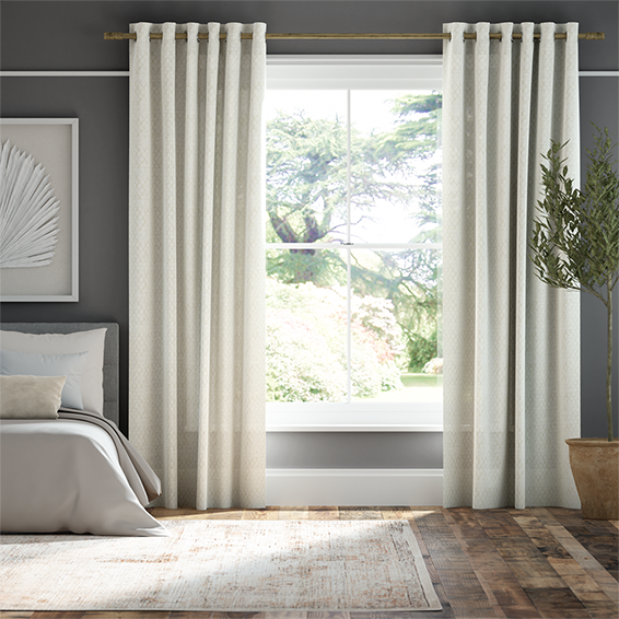 Lumiere Unlined Niko Antique Pearl Curtains thumbnail image