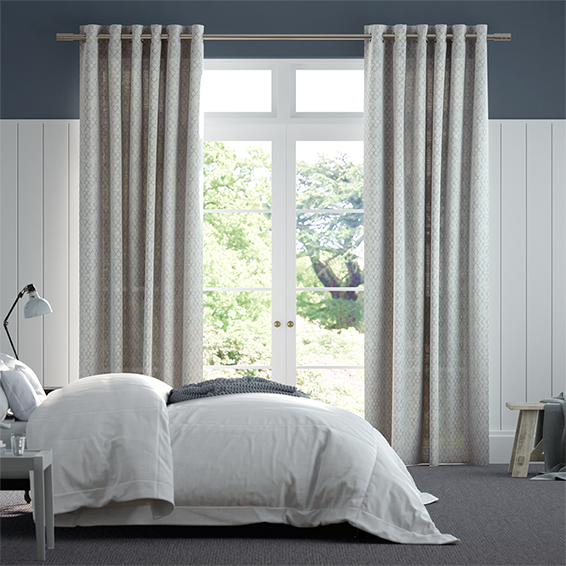 Lumiere Unlined Niko Antique Silver Curtains