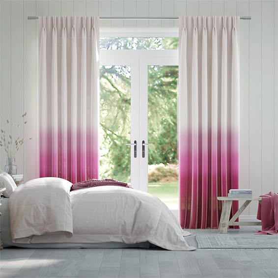 Lumiere Unlined Ombre Fuchsia Curtains