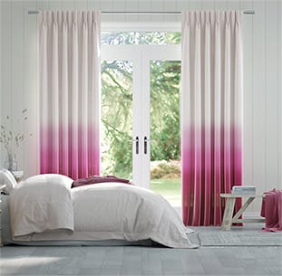 Lumiere Unlined Ombre Fuchsia Curtains thumbnail image