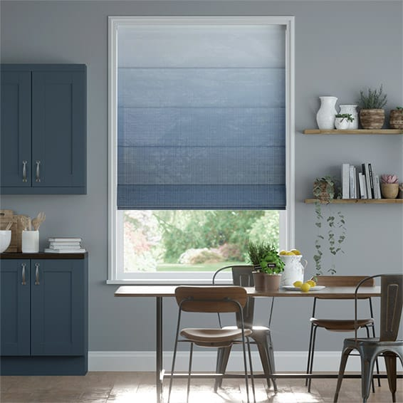 Lumiere Unlined Ombre Midnight Roman Blind