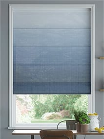 Lumiere Unlined Ombre Midnight Roman Blind thumbnail image