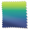 Lumiere Unlined Ombre Navy Emerald Roman Blind swatch image