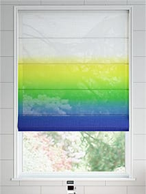 Lumiere Unlined Ombre Navy Emerald Roman Blind thumbnail image
