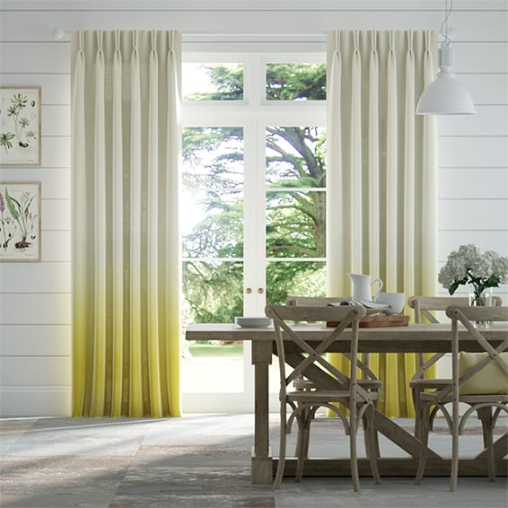 Lumiere Unlined Ombre Ochre Curtains
