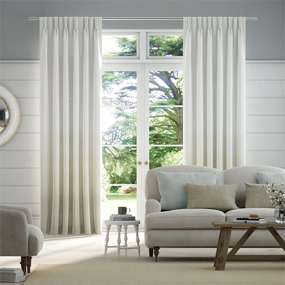 Lumiere Unlined Ombre Pebble Curtains