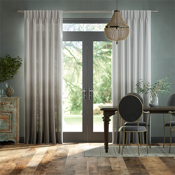 Lumiere Unlined Ombre Storm Curtains
