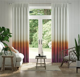Lumiere Unlined Ombre Sunset Curtains thumbnail image