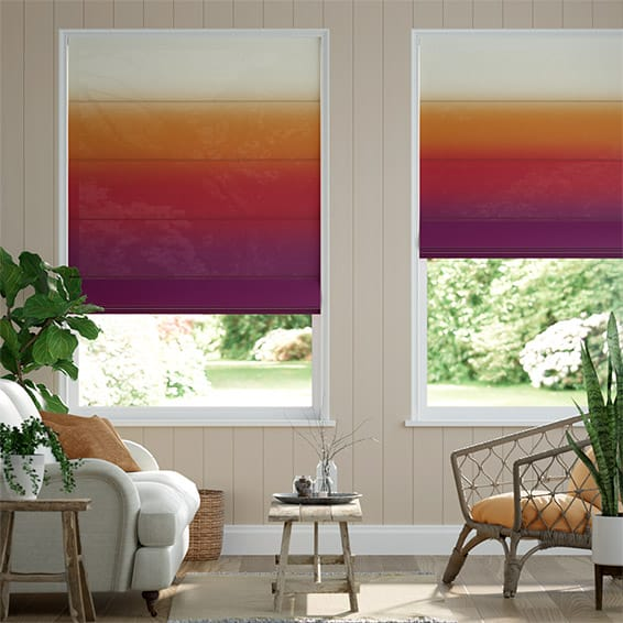 Lumiere Unlined Ombre Sunset Roman Blind