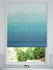 Lumiere Unlined Ombre Teal Roman Blind thumbnail image