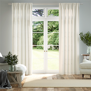 Lumiere Unlined Quincy Vanilla Curtains thumbnail image