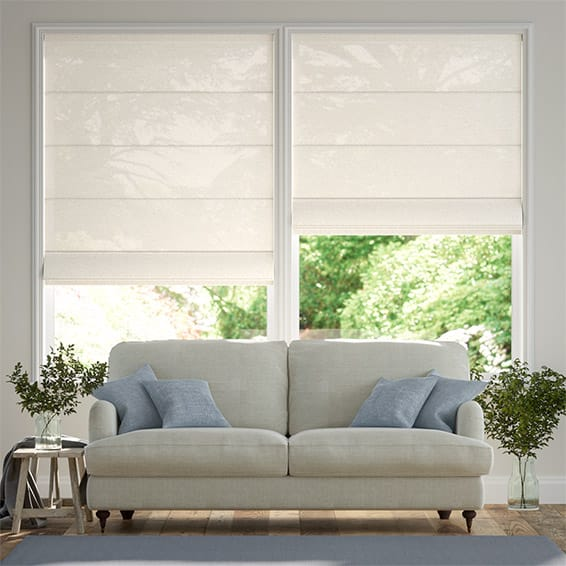 Lumiere Unlined Quincy Vanilla Roman Blind