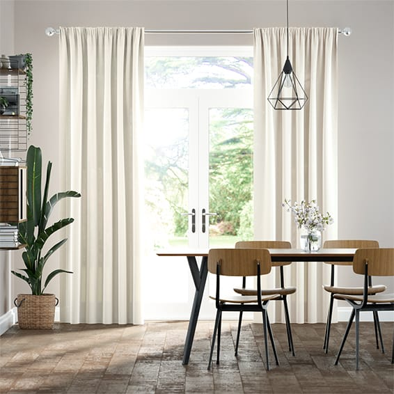 Lumiere Unlined Quintessence Linen Curtains