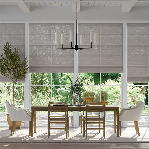 Lumiere Unlined Quintessence Paloma Roman Blind