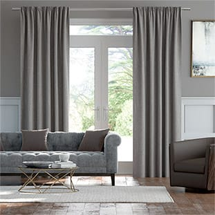 Luxe Chenille Silver Curtains thumbnail image