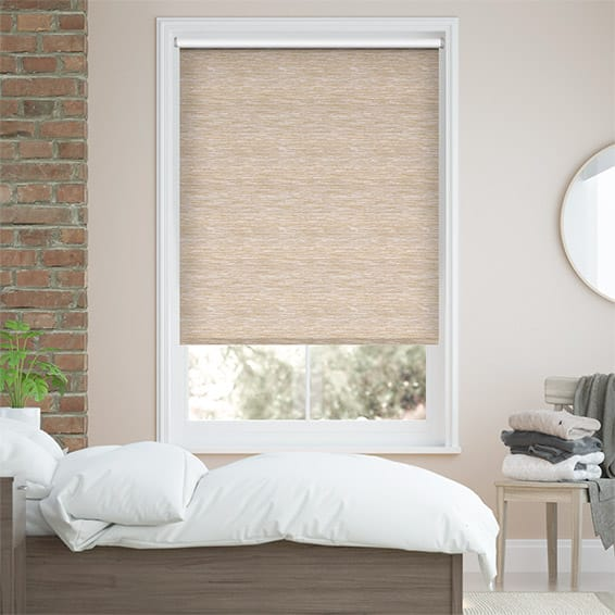 Lysander Blackout Golden Sand Roller Blind