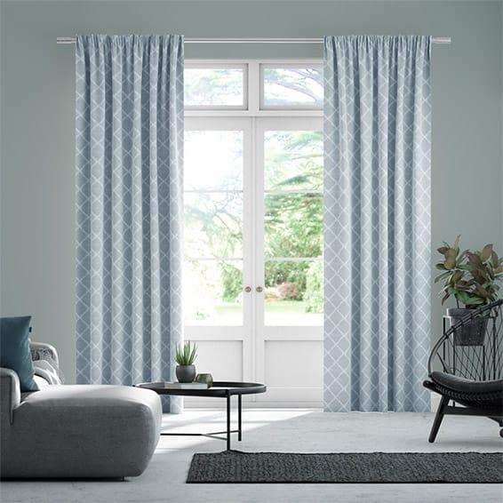Lyssa Cornflower Blue Curtains