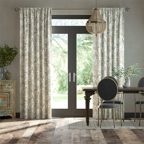 Madelyn Linen Chalk White Curtains