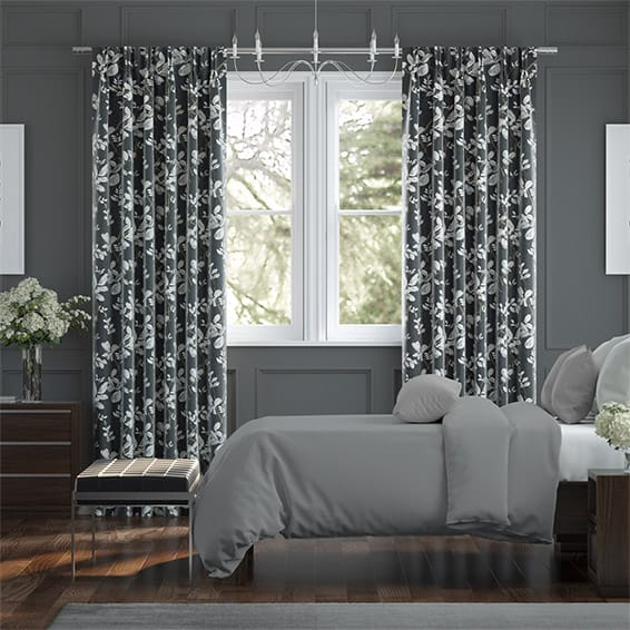 Madelyn Linen Onyx Curtains